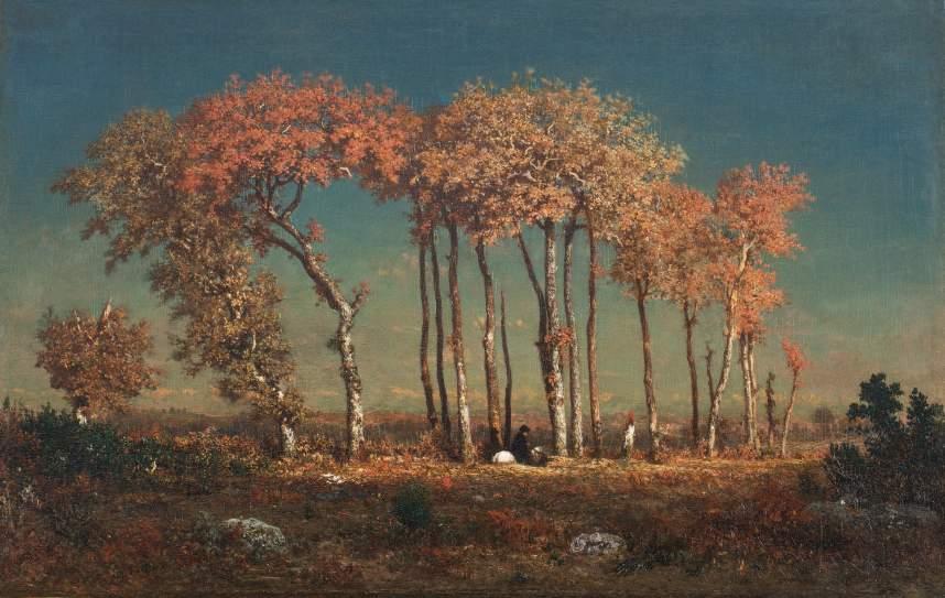 Theodore Rousseau: Aften (Sognepræsten), 1842-43. Olie på træ, 42.3 × 64.4 cm. Toledo Museum of Art, Gift of Arthur J. Secor, 1933.37. Photo: Chris Ridgway