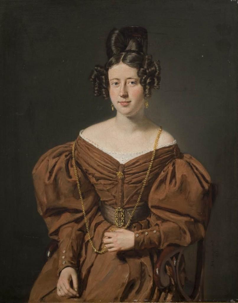 C.A. Jensen: Portræt af Ida Frederikke Broberg. 1835